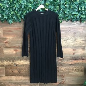 New OAK + FORT Black Sweater Dress- OS